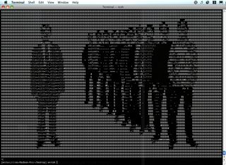 Get A Mac commercial, ASCII