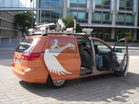 mobile mapping van outside