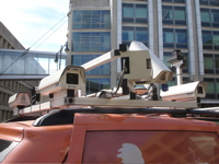 mobile mapping van roof