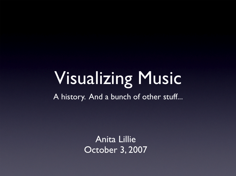 Visual Music lecture